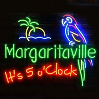 Son las 5 en punto Margaritaville Parrot Beer Bar Neon Light Sign Pub Club