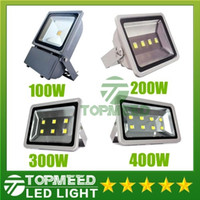 Wholesale Cob Floodlight - Led Floodlight Outdoor Project DHL IP65 Waterproof 100W 200W 300W 400W led Lamp Floodlights COB lighting 85-265V Super Bright flood lights