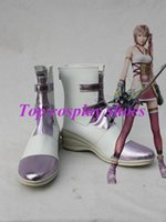 Wholesale Serah Costume - Wholesale-Freeshipping custom-made anime Final Fantasy XIII Serah Farron Cosplay Show Boots shoes 2 for Halloween Christmas festival