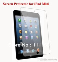 Wholesale Professional Lcd Screen Protector - 1000 PCS DHL Free Shipping, Professional High Transparency LCD Clear Screen Protector Guard for iPad Mini With Retail Packaging 0419xx