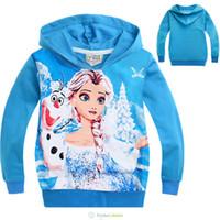 Wholesale Wholesale Clothing Hoodies - Wholesale- emoji sweatshirt girls hoodies elsa costume for kids clothes hooded long sleeve sweatshirt girls sport kids hoodies autumn 2016
