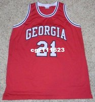 a1af3475e Basketball Men Sleeveless wholesale high quality  21 Dominique Wilkins Basketball  Jersey red Stitched Customized Any