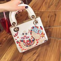 Wholesale summer korean bags - 2017 New spring summer designer mini totes bag women Korean fashion crossbody vintage mini chain shoulder bag cute fashion hot sale