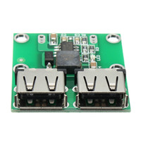 Wholesale Dc Converter Dual Output - Freeshipping Dual USB Output 6-24V to 5.2V 3A DC-DC Step Down Power Charger Module Converter