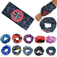 Wholesale Neck Ring Wrist - Wholesale-2016 Fashion New Unisex 10 Colors Paisley Biker Bandanna 100% Cotton Cow Boy Girl Neck Plain Scarf Wrist Wrap A2