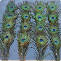 """Wholesale Natural Peacock Tail Feathers - Natural Peacock Feathers In Bulk for Wedding Christmas Halloween Decorations In All Length 10 """"-12"""" Tail Eyes Width 4-6 cm 200pcs"""