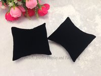 Wholesale Wholesale Jewellery Stands - Free Shipping Bulk Price Hot Sales Velvet jewellery display cushion pillow jewellery box pillow watch cushion Black