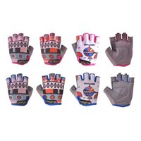 Wholesale Boys Riding Gloves - High Quality Children Cycling Gloves Half Finger Bike Riding Bicycle Outdoor Sports Child Kids Boys Girls Breathable skateboard Game Gloves