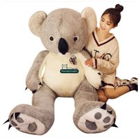 Dorimytrader Jumbo Animal Koala Plush Toy 140cm Grande Stuffed Cartoon Koalas Doll 55inches Kids Play Brinquedos Lover Gift DY61658