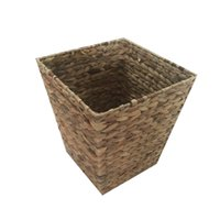 Wholesale Metal Water Buckets - Handcrafted Water Hyacinth Woven Storage Basket with Metal Frame Garbage Basket Laundry Baskets Sundries Clothes Containers