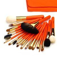 laranja escovas de maquiagem venda por atacado-Zoreya marca profissional make up pincéis orange kwasten set kit completo 22 ferramentas de qualidade natural pincéis de maquiagem
