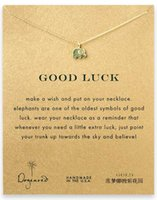 Wholesale Elephant Pendant Dogeared Necklace Good Luck Elephant Noble and Delicate Jewelry High Quality Choker Necklaces Valentine Day Woman Gift