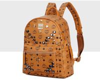 Wholesale School Bags Girls Boys - Brand Designer Backpack Fashion Backpack for Man Women Rivet Bag Lady Daily Shoulder Bag Students School Bag