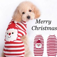 Wholesale Cute Sweaters For Dogs - Santa Claus pet sweater Dog winter clothing Christmas Santa Claus clothing With ornaments Very cute Dress up for your pet.