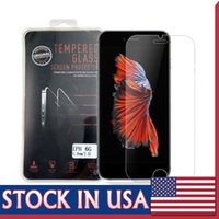 Wholesale Screen Explosion Iphone - Tempered Glass For iphone 7 6S Plus 9H Screen Protector 0.26mm Explosion Proof Film 2.5D Explosion Shatter Screen Protector In box