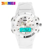 Wholesale Cheap Silicone Watches For Women - Silicone Plastic Strap Quartz Digital Watches Top Brand SKMEI Sport Wrist Watches DHL Free Shipping Cheap Wholesale Watches for Women Men