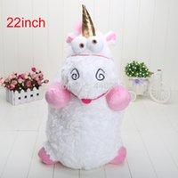 "Wholesale Despicable Unicorn 22 - Wholesale-Big Size 22"" inch 57CM Despicable ME Unicorn Stuffed & Plush Animals Toys Movie Doll Xmas Gifts"