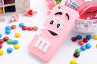 Wholesale Cover Case Silicone S2 - For iphone4s iphone5s 5c 6s 6plus Touch 4 Touch 5 SAMSUNG S2 I9100 S3 9300 S4 M beans silicon 3D Cartoon case cover phone case free shipping