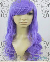 Wholesale Wig Sheryl - Free Shipping New prom High Quality Fashion Picture full lace wigs>>New wig Cosplay Sheryl Nrom Purple Long Curly Wig