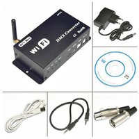 Wholesale Dmx Input - DC12V input WiFi DMX Converter controlled by Cellphone iPhone Ipad Controller, suit for LED lighting etc.