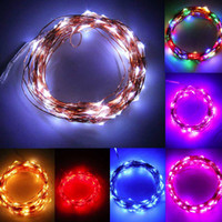 Wholesale Light Bulb Rope - Christmas String Lights Waterproof 2m 20pcs Bulbs Battery Powered Fairy Starry String Lights Decorative Rope Light Firefly Lights