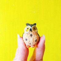 ingrosso fate in vendita in miniatura-vendita ~ 10 Pz / gufi / miniature / bella carina / fairy garden gnome / moss terrarium decor / artigianato / bonsai / c044 * 10