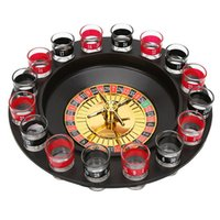 Wholesale games deluxe - Shot Glass Deluxe Russian Spinning Roulette Poker Chips Drinking Game Set Party game