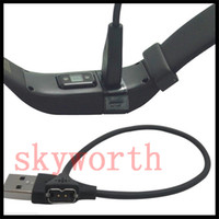 Wholesale black power cord online - 27cm USB Power Charger Charging Cable Cord Line for Fitbit Charge HR Wireless Wristband Bracelet Black