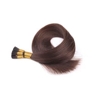 Wholesale double drawn 1g hair extensions - 14''-26'' 1g strand 100 strands lot #2 #6 #4 #60#613 #27 straight double drawn human hair remy stick tip hair extensions