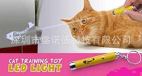 Wholesale bright laser pointer resale online - New Arrive Creative and Funny Pet Cat Toys LED Laser Pointer light Pen With Bright Animation Mouse