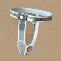 Wholesale Women Anal Lock - Stainless Steel Female Pants Chastity Belt with Anal Plug Chastity Lock Virginity Pants Adult Game Sex Toys for Women G7-5-36