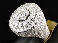 Wholesale Yellow Gold Diamond Eternity Ring - 11.82 Ct New Mens White Gold Round Diamond 3D Eternity XL Pinky Band Ring