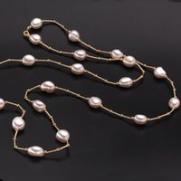 Wholesale Long Baroque Freshwater Pearl Necklace - jewelry fashion ZHBORUINI High Quality Fashion Long Necklace Baroque Natural Freshwater Pearl Pearl Jewelry For Women Necklace Accessories