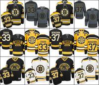 Wholesale Uniform Bear - 2015 Cheap Ice Hockey Boston Bruins 33 Zdeno Chara Jersey Third Bear 37 patrice bergeron Alternate Black Uniform Chara Bruins Jersey