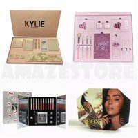 Wholesale Christmas Stocking Boxes - In stock!! New Kylie Vacation Edition Bundle Pink Birthday Collection Christmas Bundle Peacock Set Makeup set the Box by Kylie Jenner DHL