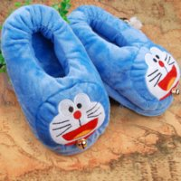 Wholesale Usb Warm Shoes - New fashion Doraemon plush USB warming shoes soft electric heating slipper foot warmer shoes in Jingle cats shape Free Shipping