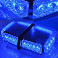 Top Tetto 24 LED Avvertimento Faretto di emergenza Flash Strobe Light Bar Blue Magnetico