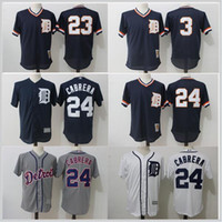 Wholesale Alan Trammell Jersey - New Arrival Cheap MLB 2017 Men's Detroit Tigers 24 Miguel Cabrera 23# Kirk Gibson 3# Alan Trammell Top Quality Stitched Baseball Jerseys