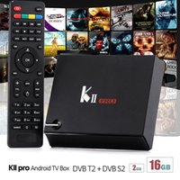 KII Pro Box TV 2G RAM 16G FLASH T2 S2 Imposta scatola superiore Amlogic S905 Quad Core 2.4G / 5G Wifi Bluetooth Streaming Media Player TV Box