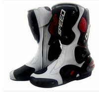 black biker boots - NEW Motorcycle Boot Waterproof Pro biker Speed Bikers Moto Rmotorcyle acing Motocross Leather Shoes Motocross Racing Boots