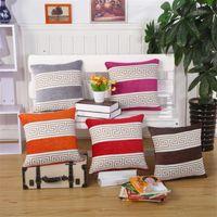 Wholesale Seat Lumbar Pillow - BZ162 Luxury Cushion Cover Pillow Case Home Textiles supplies Lumbar Pillow Striped pillow decorative throw pillows chair seat