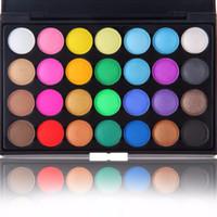 Wholesale 28 Color Eyeshadow Palette Wholesale - Wholesale-Brand 28 Professional Natural Pigment Eyeshadow Glitter Palette15 Earth Color Matte Eyeshadow Palette Cosmetic Makeup Set Nude