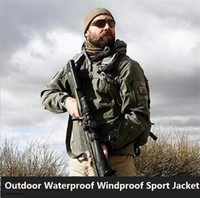 Wholesale Commander Military - High quality TAD Lurker Sharkskin Soft Shell Outdoor Waterproof Windproof Sport Military Tactical commander hunting Jacket 4087