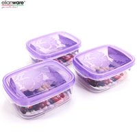 Wholesale Import Safety - PP Safety Small And Medium Capacity High Temperature Imported Preservation Easy Lock Crisper E1061-1063 Suit Light Purple 150ML+350ML+680ML