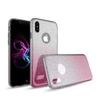 NeW Deluxe Gradient Color Slim Glitter Bling Shinning Soft TPU Capa de Silhueta Capa de Silicone para iPhone X 8 8S 7 7S 6 6S Plus 5S SE