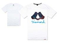 envío gratis ropa de estados unidos al por mayor-Diamond Supply camiseta camisetas de skate camisetas hip hop tops Rock rap camisetas envío gratis nuevo blusa masculina oeste usa estilo diamante ropa