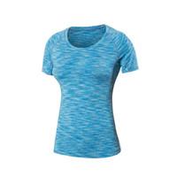 hızlı kuru tişörtler kadınlar toptan satış-Toptan-Moda Kadınlar Kamuflaj Baskı Hızlı Kuru Gömlek Yoga Spor Tee Gömlek S-XXL