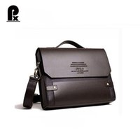 Wholesale Executive Fashion - Wholesale- Pacento Polo videng bag luxury brand men messenger shoulder bags pasta executive masculine leather briefcase bolsos sac a main