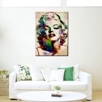 imagens de marilyn wall venda por atacado-1 Imagem Sexy Marilyn Monroe Pintura Da Lona Impresso Pintura em Cópias Da Arte Da Parede Da Lona Imagem para Sala de estar Decoração de Casa