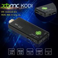 Wholesale Dlna Wifi Dongle - MK809 IV Android 4.4 TV Stick Dongle RK3128 Quad-Core 1G 8G Full HD Mini PC Kodi XBMC Miracast DLNA H.265 WiFi TV Dongle Airplay V1477